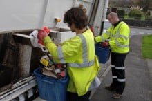 Weekly blue box recycling collections will remain unchanged under the revised Gwynedd council collection timetable