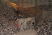The forklift overturned on April 26 2010