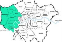 West London map