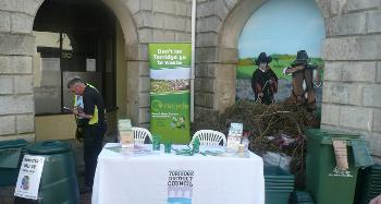 Torridge council kicked Recycling Week off early with a roadshow exhibit