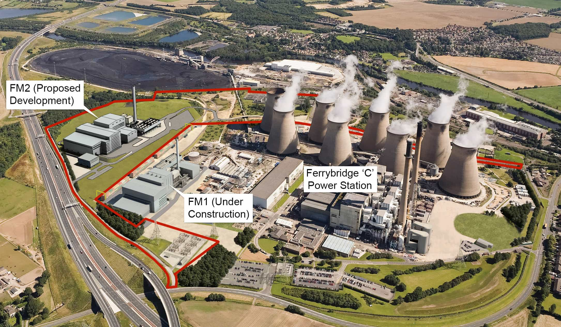 FM1, FM2 in the context of the exisiting C plant at Ferrybridge