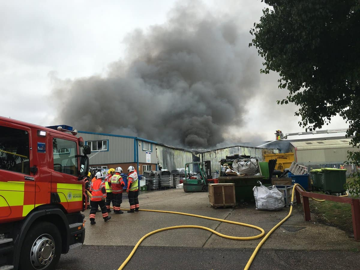 Fire crews attended the site shortly after 14:00 yesterday afternoon