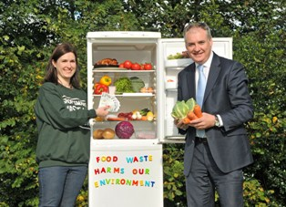 Scottish Environment Minister Richard Lochhead (pictured right) highlighting food waste reduction in February 2015